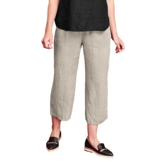 fair price classic fit complimentary shipping Flax Linen Flood Pants in Sand Wave
